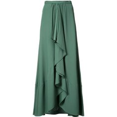 Tome pleated skirt (73.915 RUB) via Polyvore featuring skirts, green, tome, pleated skirt, green pleated skirt, knee length pleated skirt и green skirt