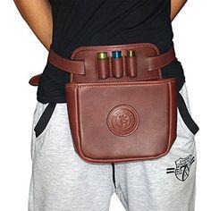 Tourbon-Leather-Waist-Rifle-Cartridge-Bag-Shotgun-Shell-Holder-Pouch-Hold-12-Gauge-16-Gauge-20-Gauge