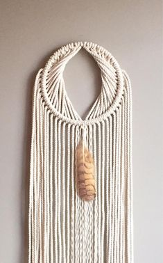 Items similar to JUTE YONI Macramé Dreamcatcher//Jute Wall Hanging Feather Moon Gate Boho Hippie Bohemian Decor Yoni Rope Shiva Shakti Lingam Feng Shui on Etsy Macrame Rings, Macrame Knots, Macrame Bag, Feng Shui, Macrame Wall Hanging Patterns, Macrame Patterns, Boho Hippie, Modern Macrame, Shiva Shakti