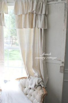 Curtains from drop cloth