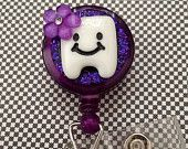 Retractable ID Badge Holder Tooth Buddy
