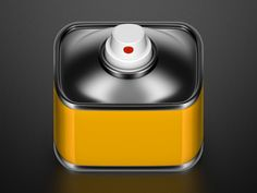 Spray Can Mobile App Icon by Konstantin Datz. 25 Clever Mobile App Icons. #icons #mobile #app #design #inspiration