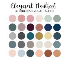 Photoshop, Colour Schemes, Color Combos, Illustrator, Ipad, Etsy App, Neutral Colour Palette, Autumn Color Palette, Color Swatches