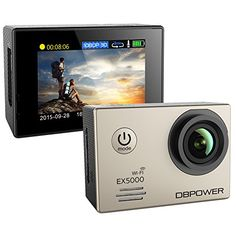 DBPOWER EX5000 2.0inch WIFI 14MP 1080P FHD Waterproof Sports Action Camera with 2 Improved Batteries and FREE Accessories(Silver) - http://www.midronepro.com/producto/dbpower-ex5000-2-0inch-wifi-14mp-1080p-fhd-waterproof-sports-action-camera-with-2-improved-batteries-and-free-accessoriessilver/