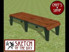 ▶ Chief's Shop Sketch of the Day: Sideline Bench - YouTube