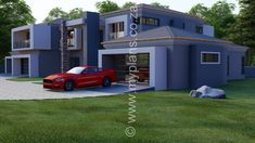 6 Bedroom House Plan - My Building Plans South Africa Double Storey House Plans, Split Level House Plans, Square House Plans, Metal House Plans, My Building, Building Plans, Architect Fees, 6 Bedroom House Plans, House Plans South Africa