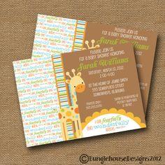 Giraffe Baby Shower Invitation DIY PRINTABLE by bunglehousedesigns, $14.00
