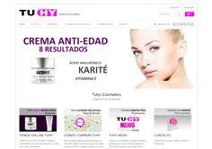 Diseño de página web de fabricante de cosmética. http://www.tuhycosmetics.com