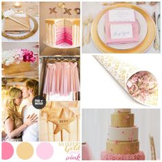 In love with today's mix of blush pinks and gold! #weddingconfetti #weddinginspiration #weddingideas #confetti #goldandpink #goldandpinkwedding
