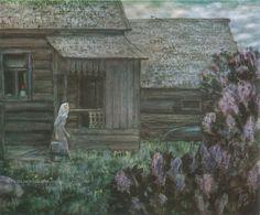 Травников Герман Алексеевич (1937) «На рассвете» из серии «Забытые сельские» 1980