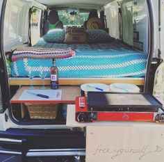 """""""Dream big enough anything can come true."""" Really digging @rosesnapz van renovation. Have a van build or adventure we should see tag your shots @vandwellinglife today to share! by vandwelling_life"""