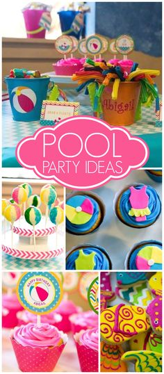 Birthday Pool Party Ideas For Kids amazing pool party ideas for kids Love This Bright And Cheery Hot Pink And Turquoise Pool Party See More Party Ideas
