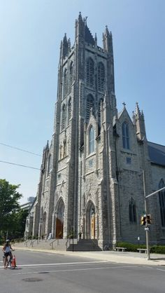 Saint. Mary's Cathedral,  Kingston Ontario Kingston Ontario, Cathedrals, Barcelona Cathedral, Stained Glass, Saints, Building, Places, Nature, Naturaleza