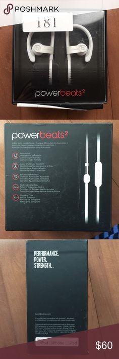 NWT Power Beats 2 Headphones Brand New in Packaging!  Beats In Ear Sport Headphones  Color: White  Power Beats 2! Perfect condition, box is defective but product is 100% Authentic and undamaged!   Price Firm/No Trades Beats by Dre Accessories