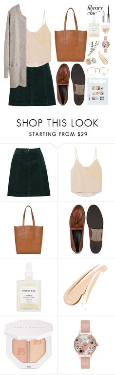 """""""Library Chic"""" by lilymadelyn ❤ liked on Polyvore featuring M&Co, Chelsea Flower, Aspinal of London, French Girl, Puma, Olivia Burton and Ray-Ban"""