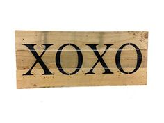 XOXO Reclaimed Tobacco Lath Art Sign x -- Check out this great product. Connecticut Magazine, Decorative Signs, Beach Signs, Art Sign, Vintage, Monkey, Amazon, Link, Check