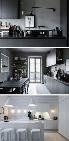 Grey interiors trend vs Scandi white on white