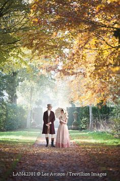 Trevillion Images - historical-couple-in-country-garden