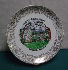 Daniel Boone Home Souvenir Plate Defiance Missouri. via Etsy.