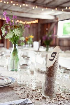 Cute table numbers!