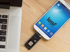 The Leef Bridge USB Flash Drive is a flash drive with a built-in USB OTG connector that makes it easily swappable between a computer and a supporting Android device. It is small and light weight. Just hook it to your key chain and you will always have a quick and easy method to transfer files between devices.