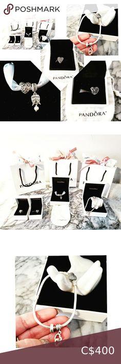 I just added this listing on Poshmark: New STUNNING Pandora Set. #shopmycloset #poshmark #fashion #shopping #style #forsale #Pandora #Jewelry Pandora Heart Bracelet, Pandora Jewelry, New Pandora, Pandora Hearts, Angle Wings, Leather Charm Bracelets, Incredible Gifts, Michael Kors Bedford, Love Is Free