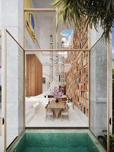 Miami Architecture, Modern Architecture House, Interior Architecture, Interior And Exterior, Decor Interior Design, Interior Decorating, Art Deco Furniture, Retro Furniture, Classic House