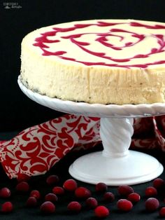 Cranberry Swirl Cheesecake & a BIG Giveaway! - Comfortably Domestic