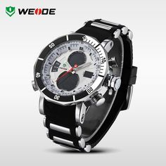 WEIDE men sports watches waterproof military quartz digital watch alarm stopwatch dual time. #watches #men #fashion #accessories http://www.weidewatch.com/2015-WH5203-Men-Sports-Wristwatch.html