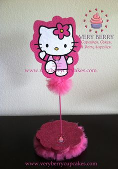 Hello Kitty  Cake pop stand Pop stand by VeryberryParty on Etsy, $25.00