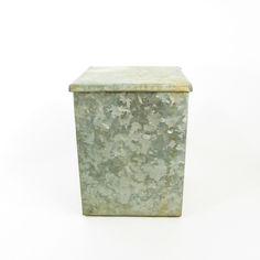 Small Galvanized Metal Milk Box, Farmhouse Decor by OldRedHenVintage on Etsy