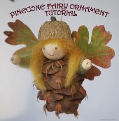 beautiful PINECONE FAIRY ORNAMENT TUTORIAL from Lucinda @ http://willodel.blogspot.com