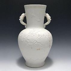 Hirado Low Relief Paulownia Vase by Imamura Rokuro