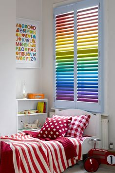 Rainbow kid room.  Daughter would love this!!