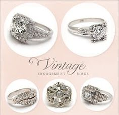 I love vintage rings- sparkly, unique, delicate, intricate