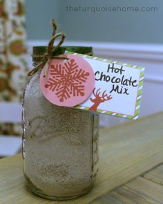 The Creamiest Hot Chocolate. Makes a fabulous gift for teachers, neighbors and friends! Or you can keep it and enjoy for yourself.
