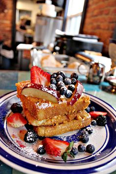 Captain Crunch French Toast at Blue Moon Cafe located in Baltimore, Maryland.  Get there early!