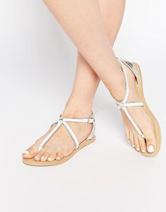 New Look Plaited Leather Sandals