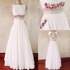 Dresses - Backless Prom Dress,White Prom Dress,Fashion Prom Dress,Sexy Party Dress,Custom Made Evening Dress Indian Designer Outfits, Indian Outfits, Designer Dresses, Lehenga Designs, Sexy Party Dress, Party Wear Dresses, Indian Gowns Dresses, Evening Dresses, Stylish Dresses
