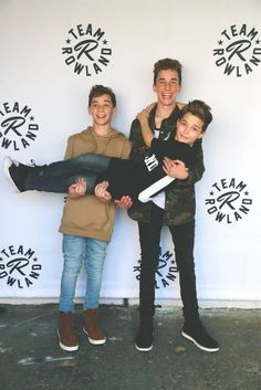 Hunter Rowland, Landon Barker and Brandon Rowland
