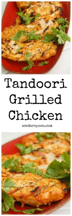 Tandoori Grilled Chicken Makes The Perfect Summer Meal That You Can Marinate The Day Before And Throw On The Grill Whenyou Get Home. The Tandoori Marinade Is Full Of Flavor And The Turmeric Makes This A Superfood To Add To The List. Yummy Chicken Recipes, Pork Recipes, Easy Dinner Recipes, Summer Recipes, Healthy Recipes, Delicious Recipes, Dinner Ideas, Turkey Recipes, Easy Recipes
