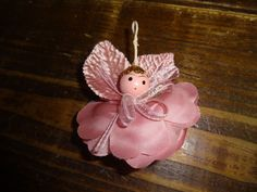 A lot of14 Handmade Christmas Angel Ornaments (made from a rose) pink                                                                                                                                                                                 More