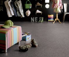 HQR is an ultra thick, vinyl flooring roll with fiber technology for extra comfort and excellent sound insulation. Vinyl Flooring Rolls, Dalle Pvc, Sol Pvc, Bean Bag Chair, Kids Rugs, Wood, Home Decor, Lame, Merlin