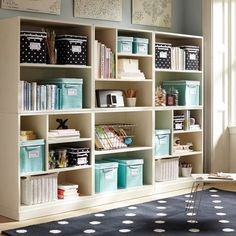 The new Stack Me Up Bookcases from PBteen are a great pieces to customize a unique organizational display