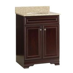Home Decorators Collection Grafton 25 in. Vanity in Crimson with Granite Vanity Top in Beige-PPWYNCRM24 at The Home Depot