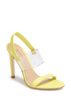 Fun yellow slingback sandal for spring and summer | BCBGMAXAZRIA