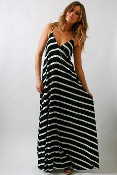 Eight Sixty, Striped maxi dress