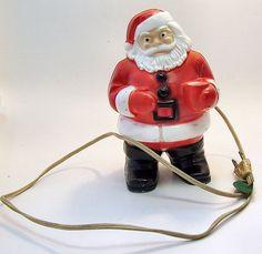 Vintage Plastic Santa Light Mid Century by SierrasTreasure on Etsy, $22.00