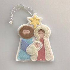 Holy Family Ornament Felt Nativity Felt Christmas image 2 This darling felt Christmas ornament of the Holy Family is a great addition to your tree this season. This ornament is hand sewn by me to ensure lasting quality. Sewn Christmas Ornaments, Nativity Ornaments, Felt Christmas Decorations, Nativity Crafts, Christmas Sewing, Christmas Nativity, Felt Ornaments, Handmade Christmas, Family Ornament