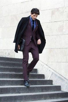 bold suit color // #suit #menswear